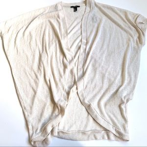Forever 21 cream cardigan tan size small